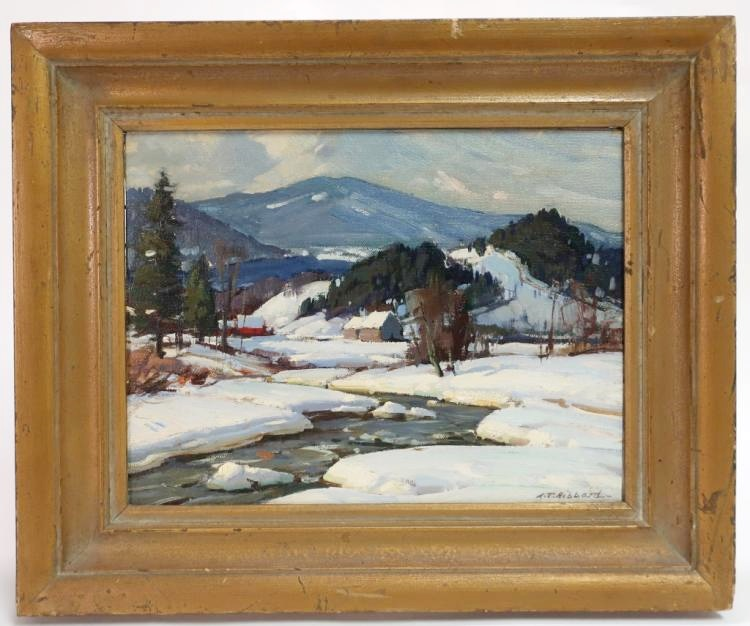 Aldro (A.T.) Hibbard, American, 1886-1972, Vermont Winter Landscape,. Sold For $5,250