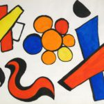 Alexander Calder, American, 1898-1976, 'Table For Six', Gouache & Watercolor. Sold For $31,800.