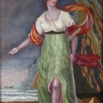 Allegorical Silk On Painted Silk Needlework Picture, American Or English, 19th C. Sold For $1,000.