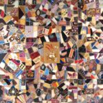 Allen Family Crazy Quilt, Circa 1888. Sold For $2,125.