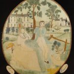 American Folk Art Painting On Silk By Lucy Emerson, Early 19th C. Sold For $4,000.