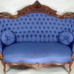 American Rococo Pierced & Carved Laminated Rosewood Settee, C. 1860 By J & JW Meeks, NY. Sold For $6,250.