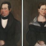 American School, Possibly Skaneateles Region, Upstate New York, Mid-19th C., Pair Of Portraits. Sold For $6,875.