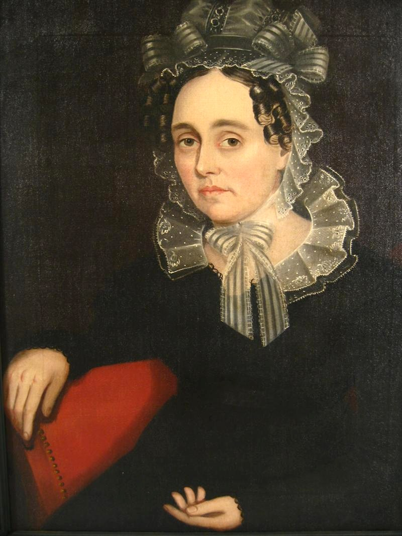 Ammi Phillips, Curtisville, MA, 1788-1865, Portrait Of Betsy Sutherland, Painted C. 1830, Litchfield County, Conn. Sold For $10,312.