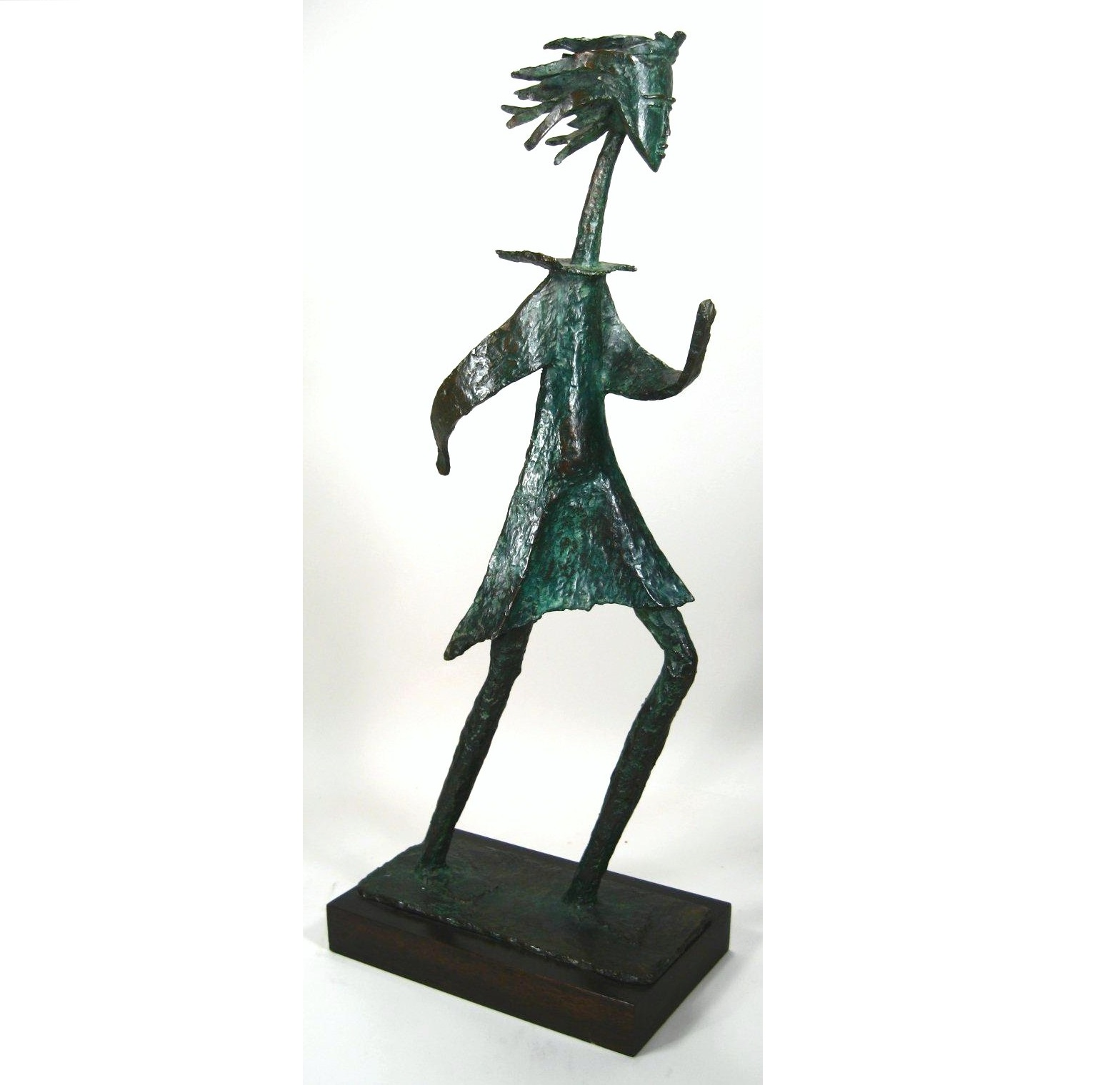 Angel Botello, Puerto Rico, 1913-1986, 'Nina Corriendo #4', Bronze. Sold For $18,000.