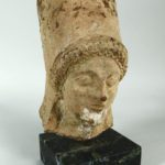 Archaic Greek Hollow Terracotta Head Of Demeter, 5th-6th C. BC. Sold For $10,937.