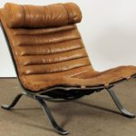 Arne Norell Midcentury Modern Leather Lounge Chair. Sold For $2,625