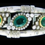 Art Deco Platinum Emerald & Diamond Cuff Bracelet, Attr. Madame Suzanne Belperron. Sold For $54,000.