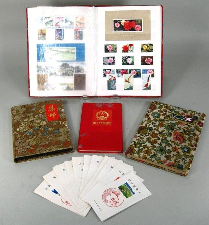 Assorted Grouping Of Asian Stamps, Late 20th C. Sold For $15,036.