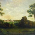 Attr. Francis Guy, American, 1760-1820, Federal Home With Figures And Cattle In Landscape. Sold For $5,062.