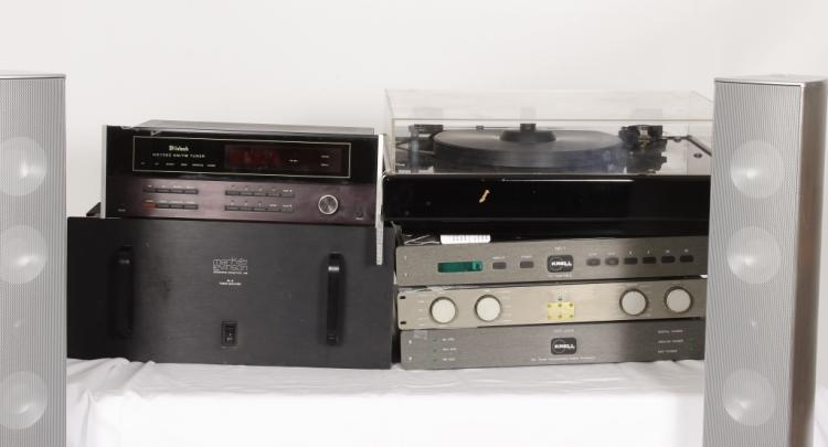 Audiophile Group. Incl. McIntosh, Krell, Levinson, VPI.Sold For $3,250
