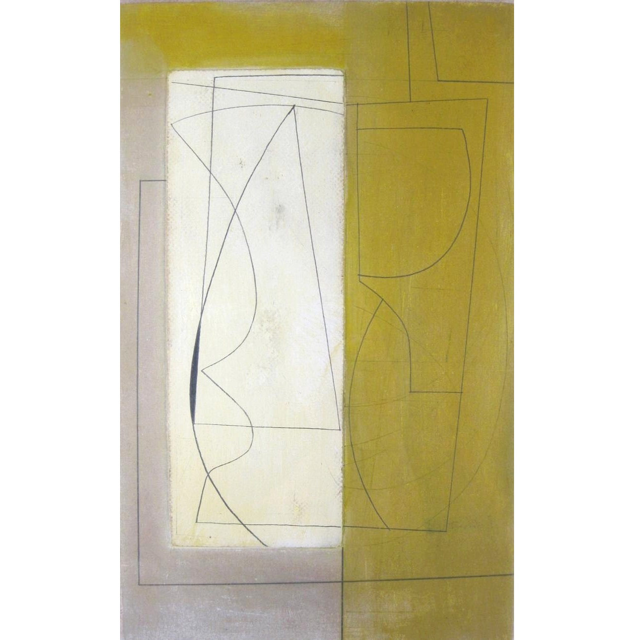 Ben Nicholson, British, 1894-1982, 'Birdwing', April 15, 1953, Mixed Media. Sold For $81,600.