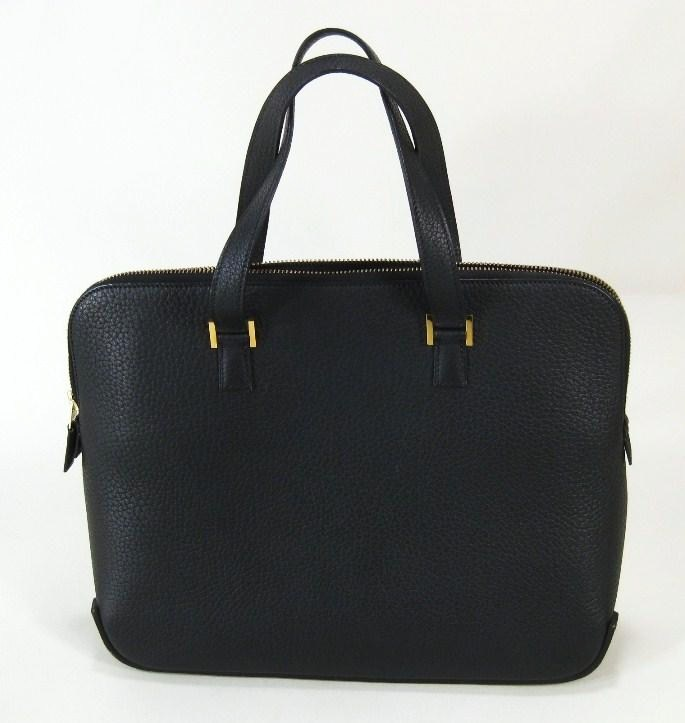 Black Leather Evening Bag By Hermes, Paris, Circa 2003. Sold For $2,031.