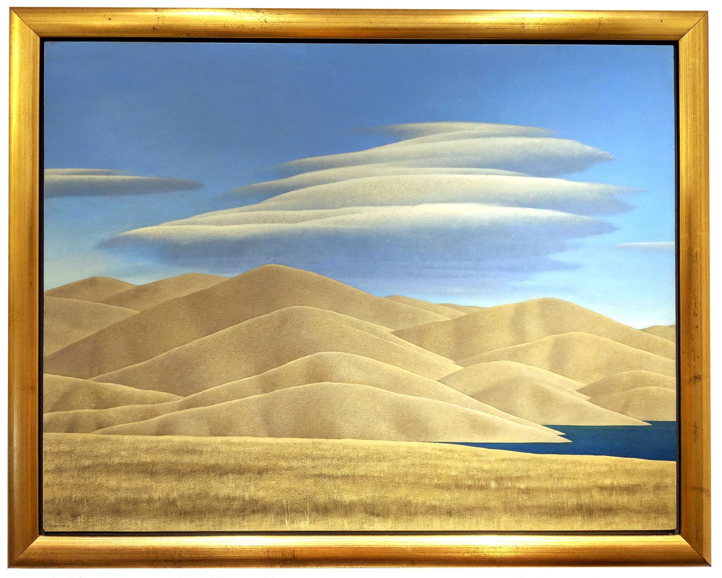 Brent Wong (New Zealander, B.1945) Hills And Dam Lake Under Clouds (1984-1991). Sold For $16,875 At Partner Capsule Gallery Auction