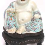 Budai (Happy) Buddha With Original Carved Stand, Sold For $7,812