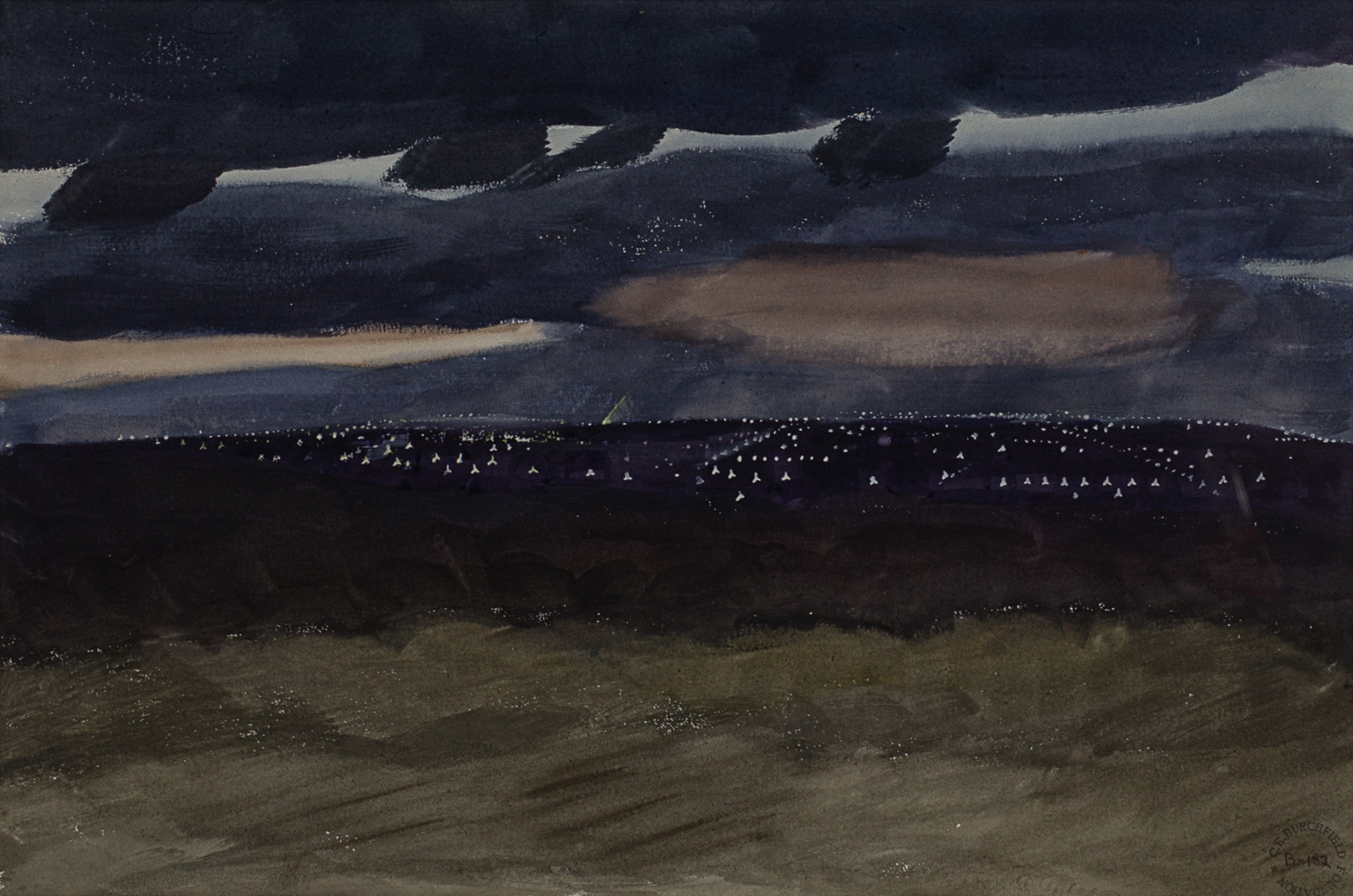 Charles Burchfield, Night Scene, 1929. Sold For $12,500 At Capsule Gallery Auction