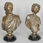 Charles Cordier, (French, 1827-1905) Venus Africaine And Saïd Abdallah, Bronzes. Sold For $32,500 At Partner Capsule Gallery Auction