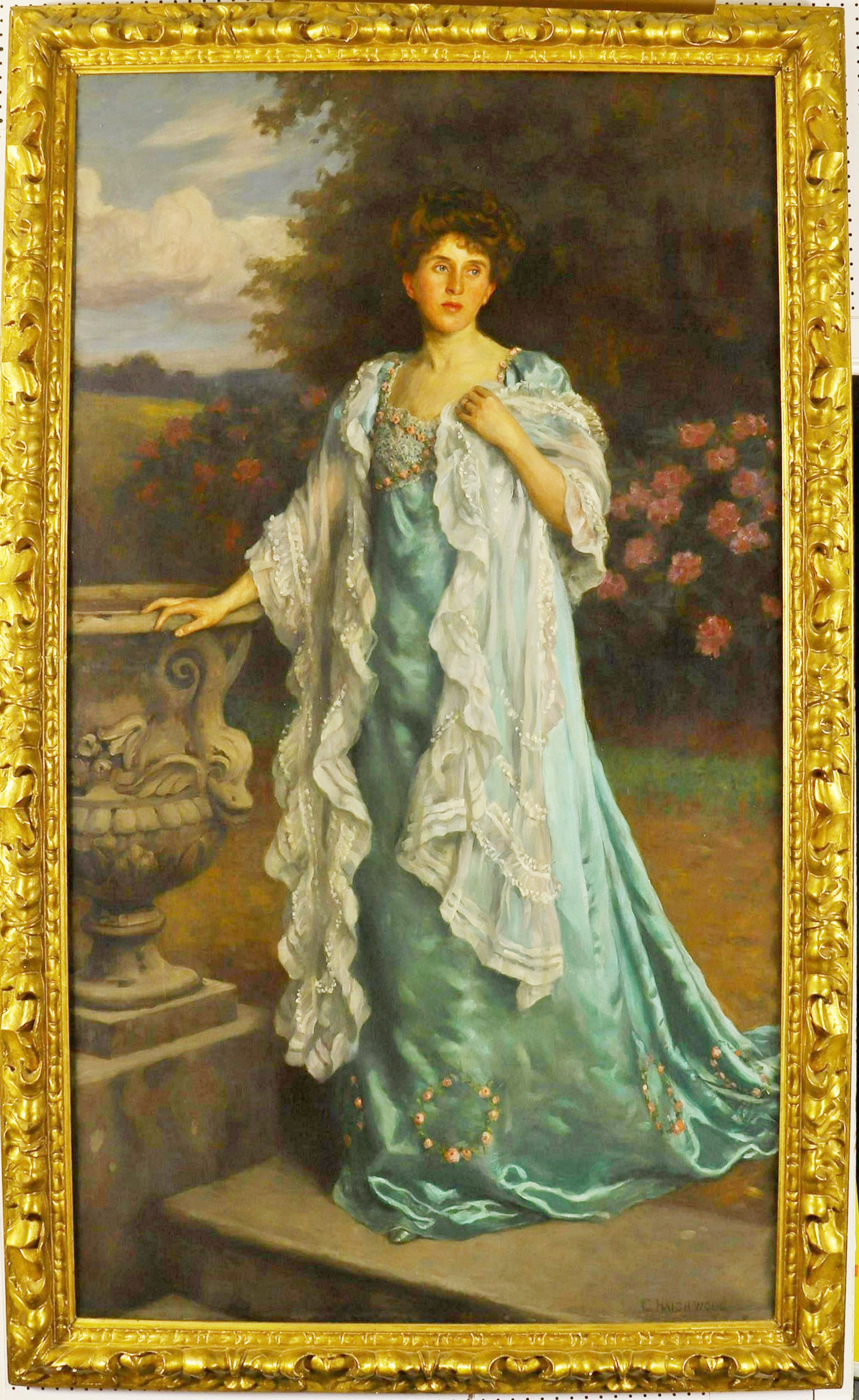 Charles Haigh-Wood, Portrait Of A Lady, Oil On Canvas. Sold For 7,150