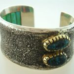 Charles Loloma Cuff Bracelet, Native American. Sold For $14,376.