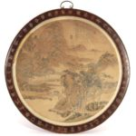 Chinese 19th C. Signed Landscape Wwatercolor, As Table Top. Sold For $5,500