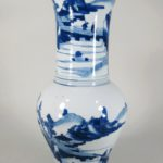 Chinese Baluster Shaped Blue And White Porcelain Vase. Sold For $24,000.