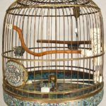 Chinese Cloisonne Birdcage On Stand, 19th C. Sold For $16,200.