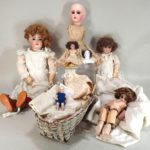 Collection Of Vintage Dolls, 19th-20th C., Including A Jumeau Doll. Sold For $3,637.
