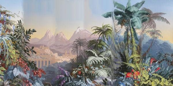 Complete 24-Panel Set Of Scenic Wallpaper, 'El Dorado' Suite , J. Fuchs For Zuber Et Cie. Sold For $16,260.