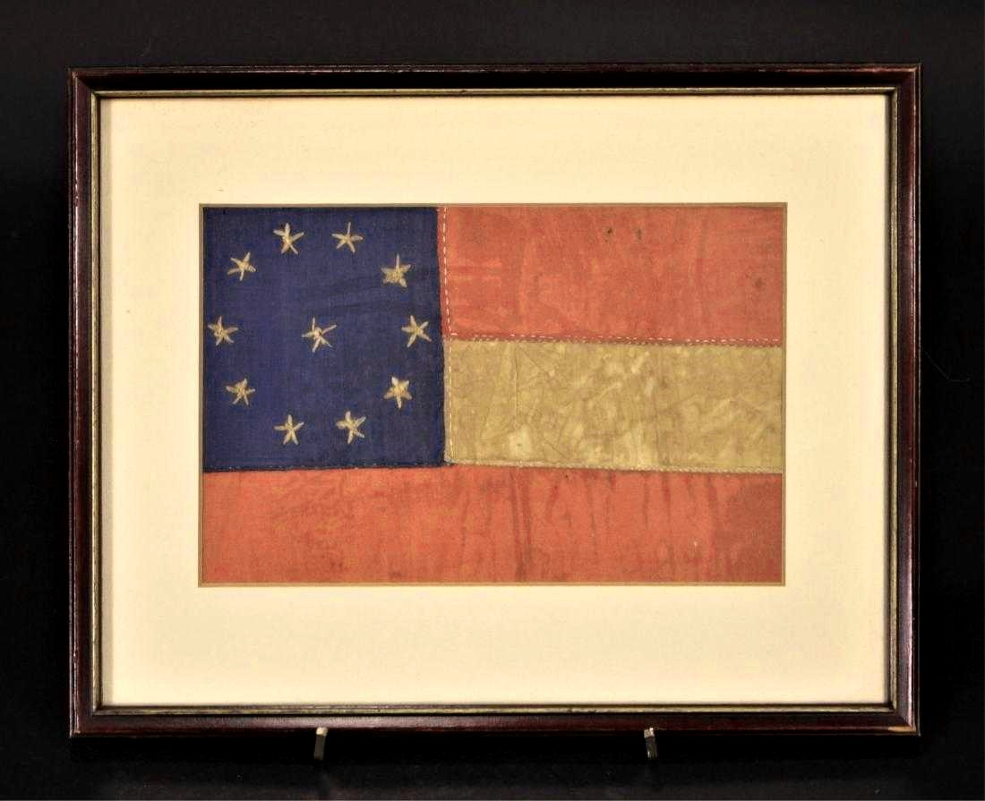 Confederate Bible Flag – 11 Stars 3 Stripes. Sld For $2,625