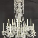 Crystal 14 Light Chandelier, French, Possibly Baccarat. Sold For $7,937.