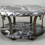 Edgar Brandt Art Deco Marble & Bronze Coffee Table, C. 1920's. Sold For $10,312.