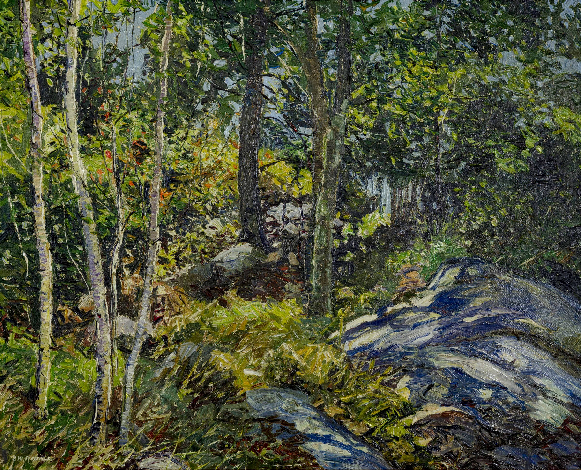 Edward Willis Redfield (American, 1869-1965) Summer Woodland. Sold For $62,500 At Partner Capsule Gallery Auction