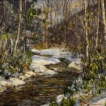 Edward Willis Redfield (American, 1869-1965) Woodland Brook, Ca. 1915. Sold For $168,750 At Partner Capsule Gallery Auction