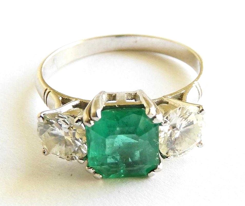 Emerald, Diamond & Platinum. Sold For $2,500