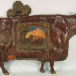 English Carved And Painted Pub Sign Of A Cow. Sold For $5,125.