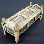 English Or American Casket Form Cribbage Set, 18th-19th C. Sold For $2,500. Sept 2006.