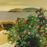Fairfield Porter, American, 1907-1976, 'Roses In Bloom, Maine', Oil On Canvas. Sold For $101,400.