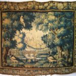 Flemish Garden Tapestry, Brussels, 17th C., Wooded Landscape With Birds. Sold For $4,266.
