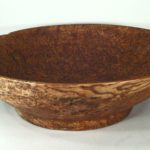 Footed Burlwood Bowl, American, Late 19th C. . Sold For $3,500.