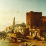 Francois Antoine Bossuet, Belgian, 1800-1889, 'View Of The City Of Zaragoza', Oil On Canvas. Sold For $34,200.