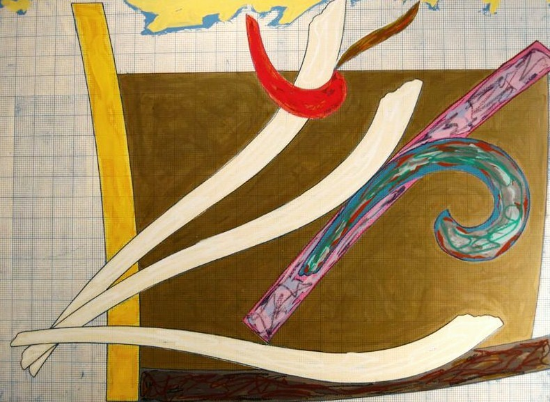 Frank Stella, American, B. 1936, 'Bermuda Petrel', Mixed Media. Sold For $38,400.