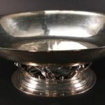 Georg Jensen Sterling Silver Oval Center Piece Bowl. Sold For $15,623.