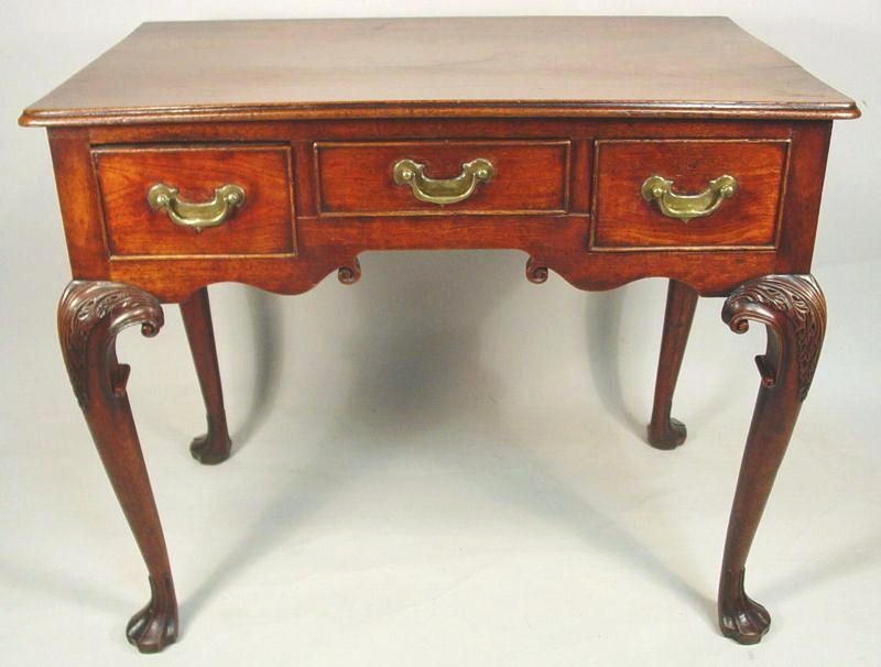 George II Elm Lowboy, Mid-18th C. Sold For $16,920.