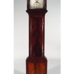 George III Mahogany Mid-Size Tall Case Clock, Alexander Ferguson, Edinburgh, Circa 1760. Sold For $10,937.