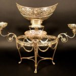 George III Sterling Epergne By William Pitts, London 1800. Sold For $4,875