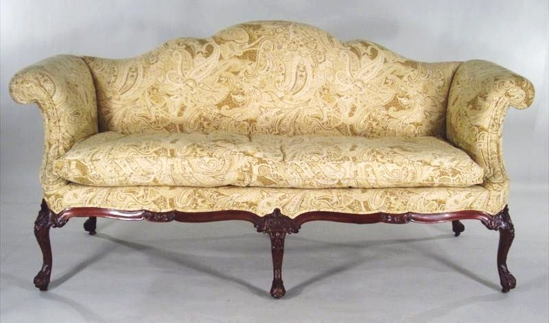 Georgian Camelback Sofa, Possibly Irish, 18th C.. Sold For $57,600.