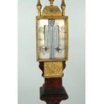 Gilt Brass And Walnut Table Barometer; Tho. Tompion Londini Fecit. Sold For $10,343.