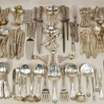 Gorham Sterling Silver Flatware Service For 12, In The Mythologique Pattern. Sold For $16,800.