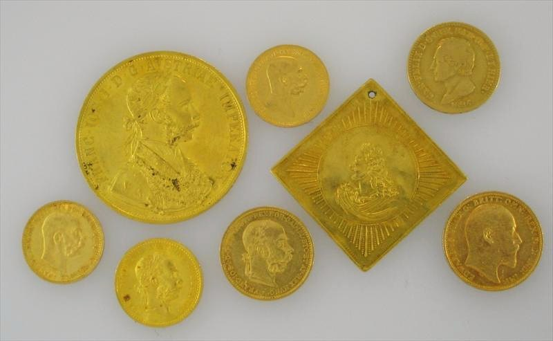 Group Of High Carat Gold Bouillon Coins, 19th-Early 20th C. Sold For $1,793.