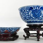 Group Of Two Chinese Porcelain Blue And White Bowls, 19th And 20th C.. Sold For $26,401.